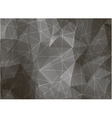 Geometric triangles on black and white background vector image