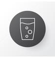 glass icon symbol premium quality isolated vector image