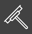 glass wiper vector image