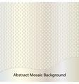 Golden abstract mosaic background vector image vector image