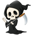 grim reaper cartoon waving hand vector image