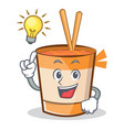 have an idea cup noodles character cartoon vector image