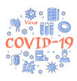 linear concept coronavirus pandemic vector image vector image
