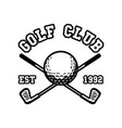 logo design golf club est 1992 with golf clubs vector image vector image