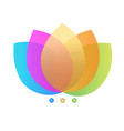 lotus colorful flowers icon vector image vector image
