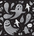 lovely halloween concept childish seamless vector image vector image
