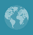 modern technology network world map digital vector image vector image