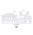 montpellier city skyline vector image vector image