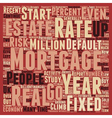 Mortgage Report Mortgage Rates Stable In text vector image vector image