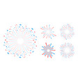 party and holiday event firework icon flat set vector image
