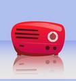 retro red radio vector image vector image