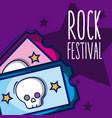 rock festival cartoon vector image vector image
