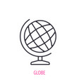 school geography globe outline icon vector image