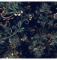 Seamless abstract floral pattern 5 vector image vector image