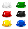 set of beautiful colorful cups vector image