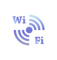 sign wifi colored on a white vector image
