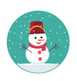 snowman icon in flat style vector image