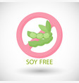 soy free flat icon food intolerance vector image vector image