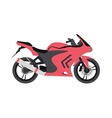 Sport bike silhouette transport power vector image vector image