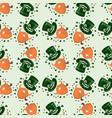 st patricks day seamless pattern with leprechaun vector image