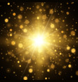 star burst with sparkles light effect vector image vector image