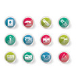 stylized simple travel and trip icons vector image vector image