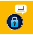 technology laptop padlock protection safety vector image vector image