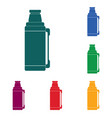 thermos container icon camping and hiking vector image vector image