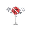 tongue out no right turn in character vector image vector image
