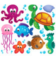 various marine animals set 1 vector image