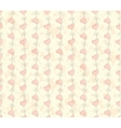 vintage Seamless pattern with hearts Valentines vector image vector image