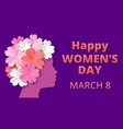 womens day origami vector image vector image