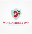 world kidney day poster vector image vector image