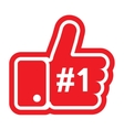 Thumb Up Sign vector image