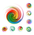 Colorful abstract icon set vector image