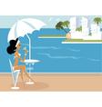 miss boo vacation vector image
