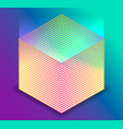 3d isometric cube with uv light vector image