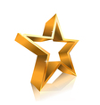 3d star line vector image vector image