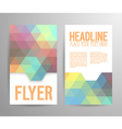 Abstract flyer template with place for text vector image vector image