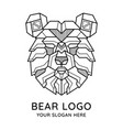 abstract geometric bear head logo vector image vector image