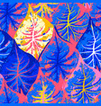 abstract seamless pattern exotic leaves vector image vector image