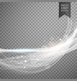 abstract white light streak effect background vector image vector image