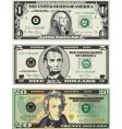American dollar bills vector image vector image