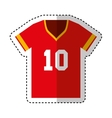 american football shirt captain vector image vector image