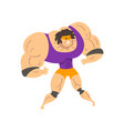 angry powerful wrestler character in mask vector image vector image