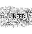 are you ready to be your own boss text word cloud vector image vector image