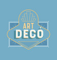 art deco vintage lettering text quote label vector image vector image