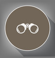binocular sign white icon on vector image vector image