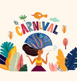 brazil carnival template vector image vector image