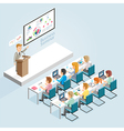 Business Seminar Isometric Flat Style vector image
